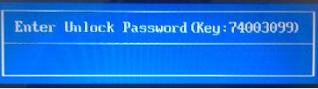 acer enter unlock password