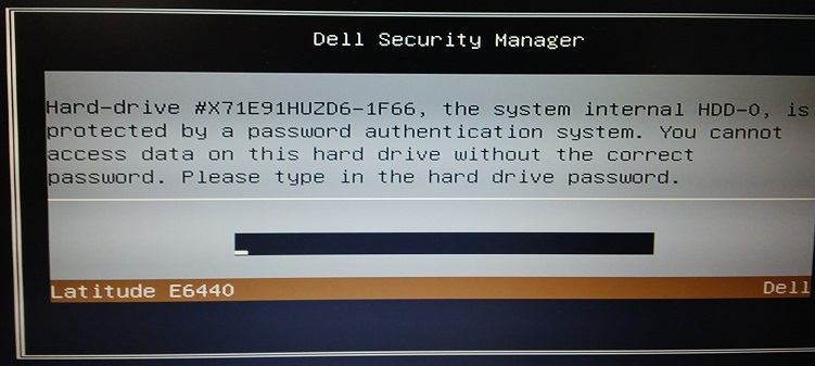 Dell Latitude E6440 master password