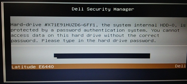 Dell 6FF1 HDD password