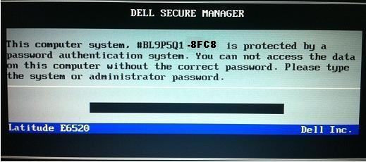 Dell 8FC8 System password
