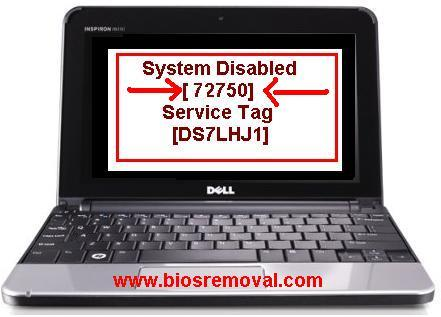 remove Dell inspiron 1150 bios Password