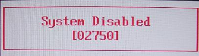 dell inspiron 710m System Disabled master password